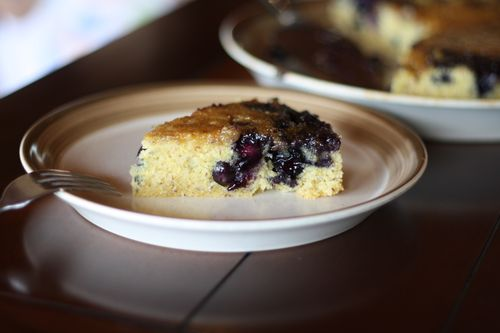 Blueberry Upside Down Breakfast Cake