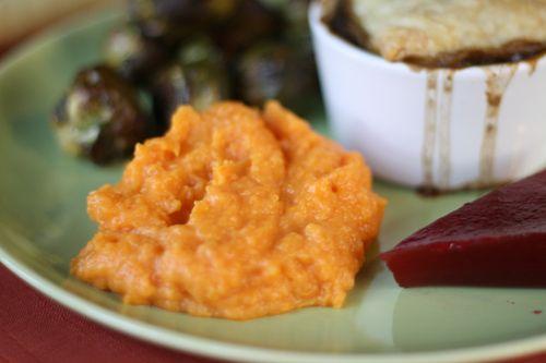Thanksgiving mashed sweet potatoes