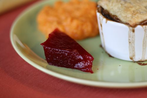 Thanksgiving jellied cranberry sauce