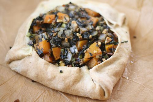 Butternut and kale tart