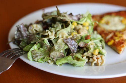 Creamy basil salad dressing
