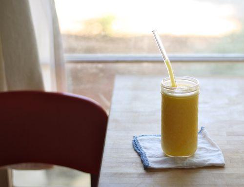 Mango lemonade slushie