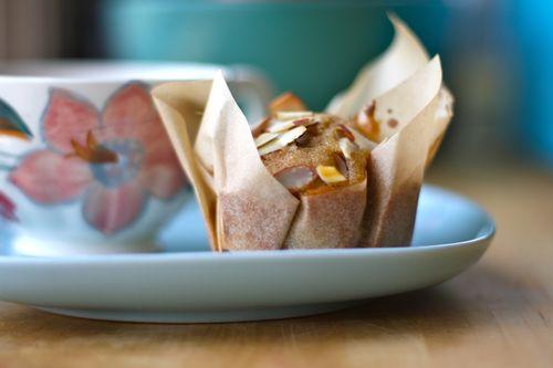 Almond oatmeal apricot muffin